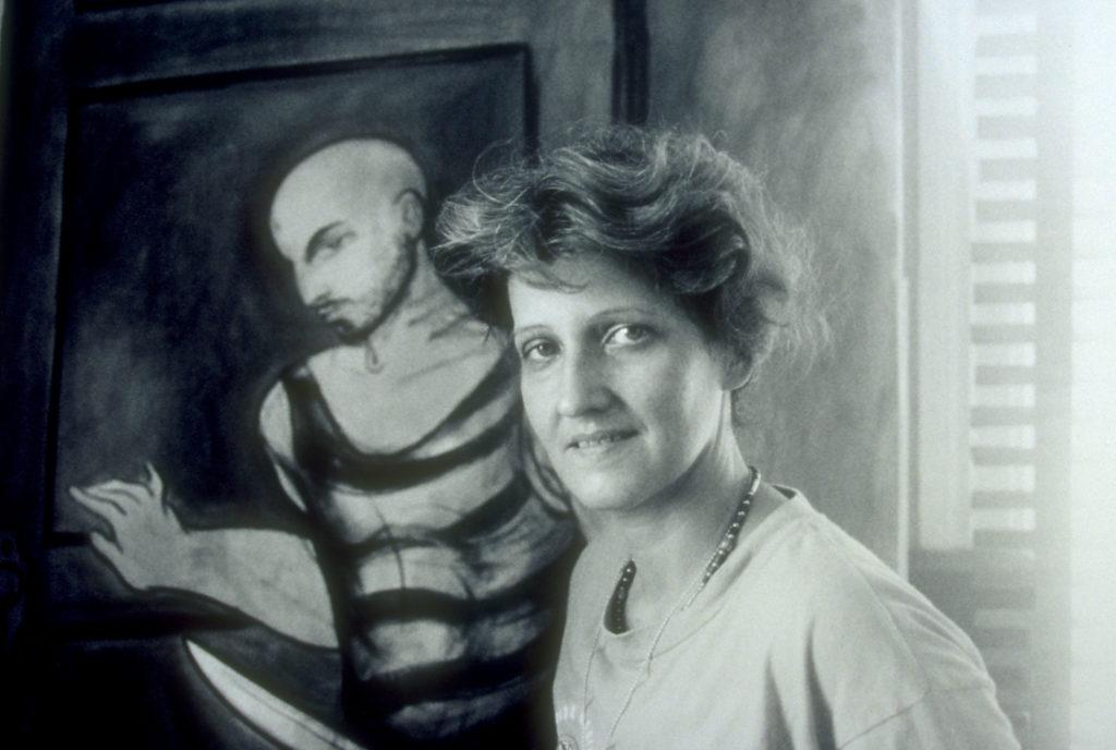 Rocio Garcia Nuez - WBB artist in her studio in Havana