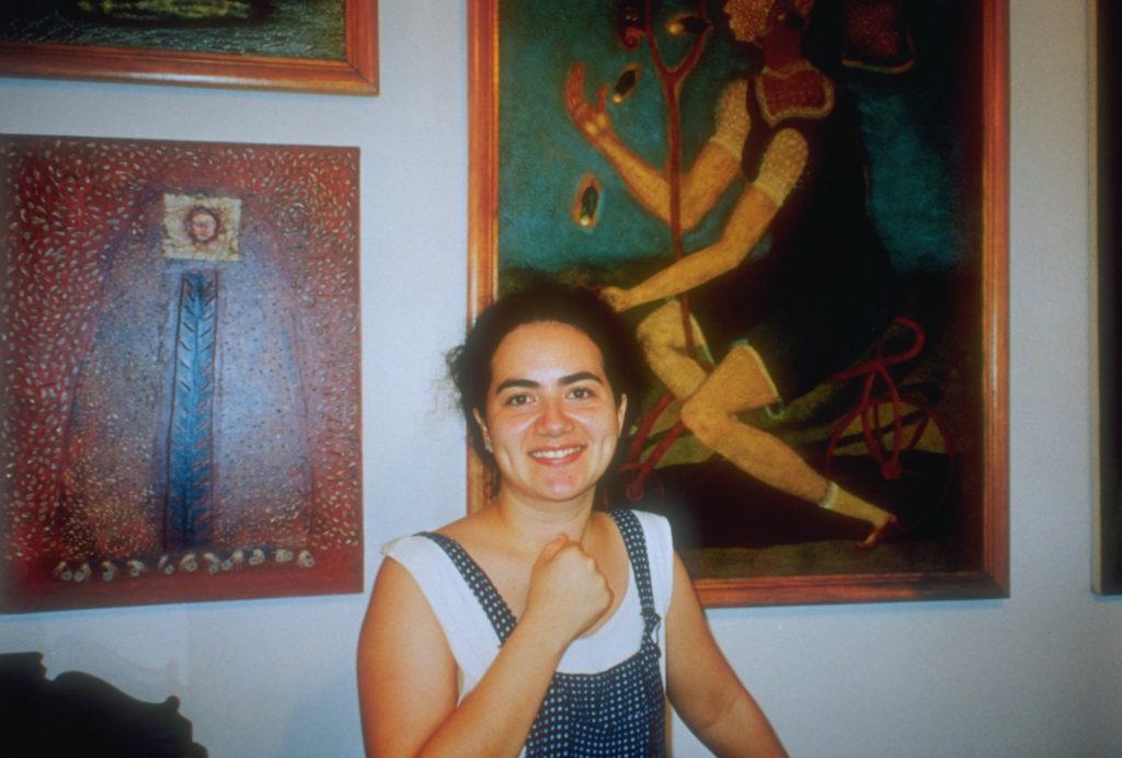 Elsa Mora, WBB artist in her home in Havana, Cuba
