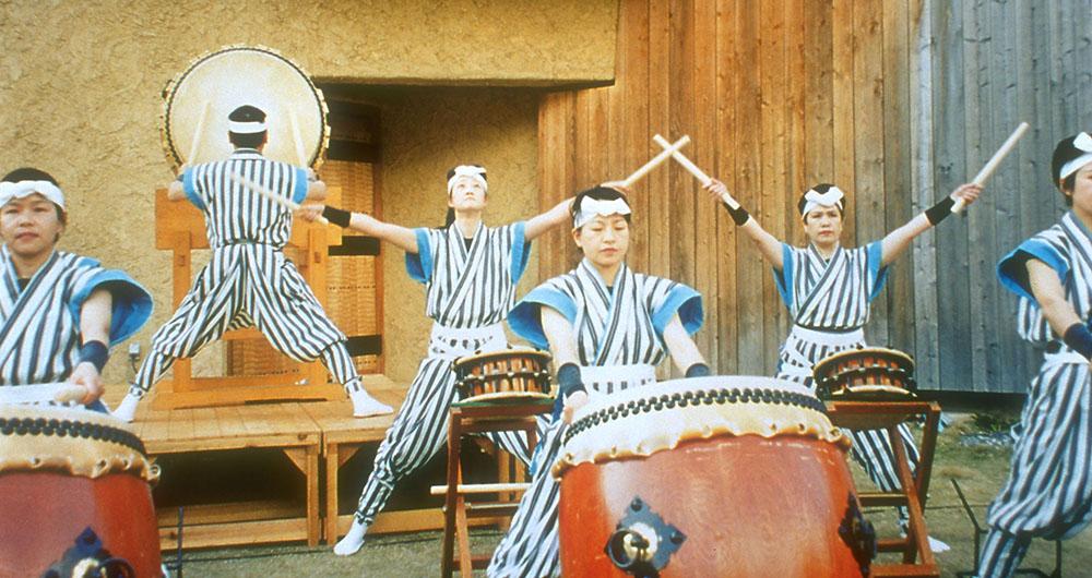 Women Taiko Drummers at the Akino Fuku Ceremonial Opening