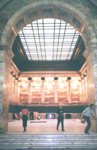 Pink marble room at the Russian Ethnographic Museum