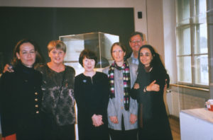Dr. Sania Papa (Greece), Lorraine Serena, Dr. Margot Schmidt (Switzerland). Ella Van der Meijden (Switzerland), Frank Serena, Vana Xenou (Greece) at opening of WBB Basel.